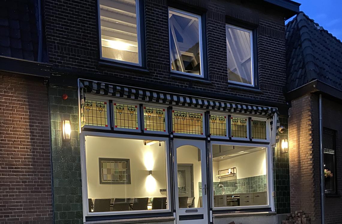 De ingang van de groepsaccommodatie in Oldenzaal.