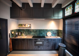 De keuken van de groepsaccommodatie in Oldenzaal.